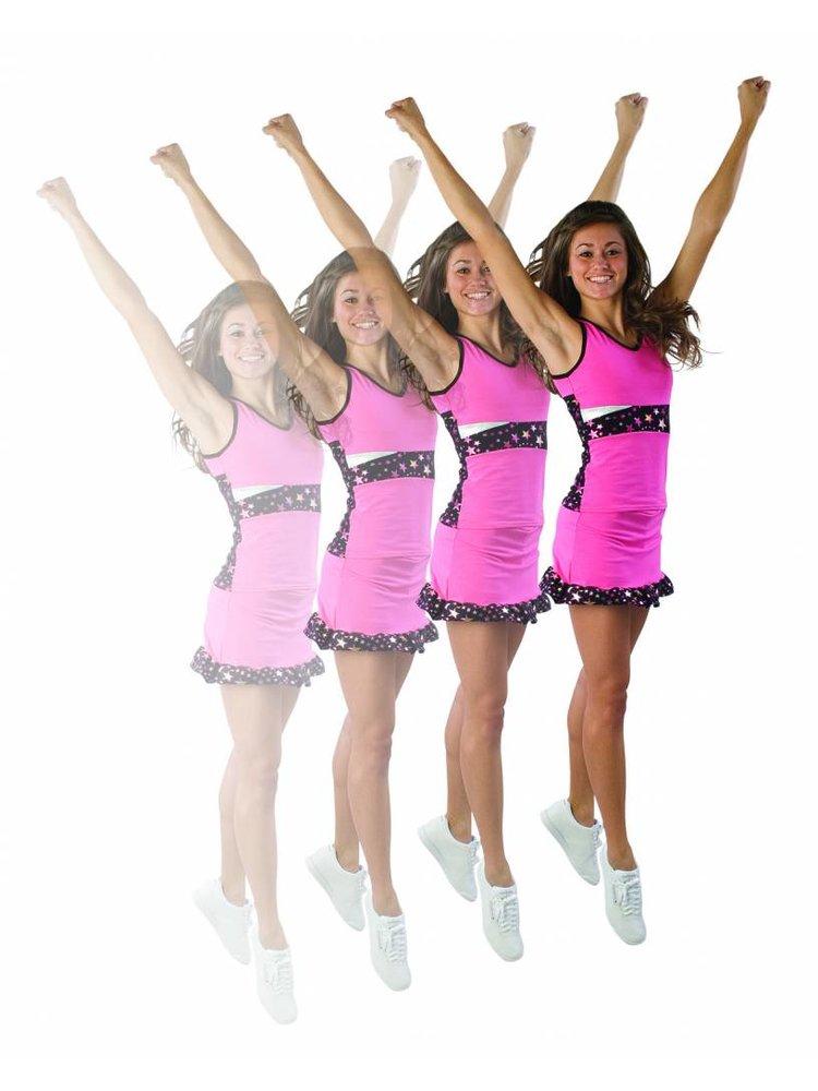Pizzazz Superstar cheer rokje roze 152