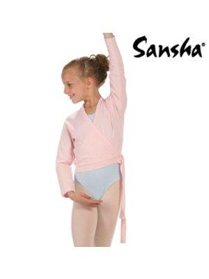 Sansha Zwart balletvestje Candy wikkel model