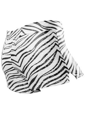 Pizzazz Zebra glitter cheer short zwart/wit