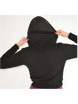 Dansgirl Hoodie top zwart
