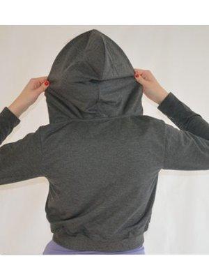 Dansgirl Hoodie top donker grijs