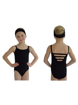 Dansgirl Kinder Balletpakje wide strap zwart 98/104
