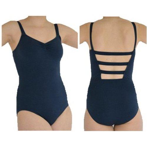 Dansgirl Balletpakje wide strap donker blauw