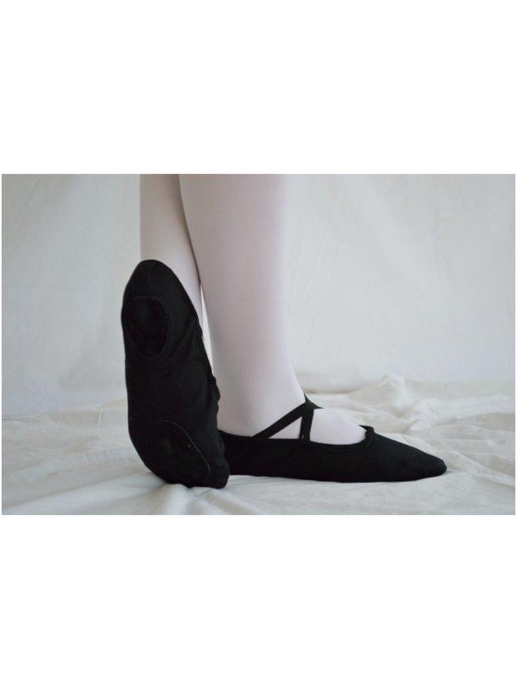 Dansgirl Balletschoenen splitzool zwart