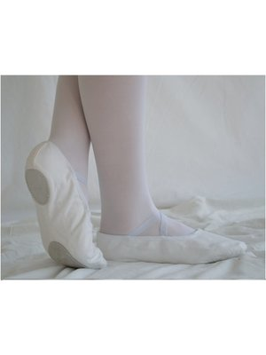 Dansgirl Balletschoenen splitzool wit