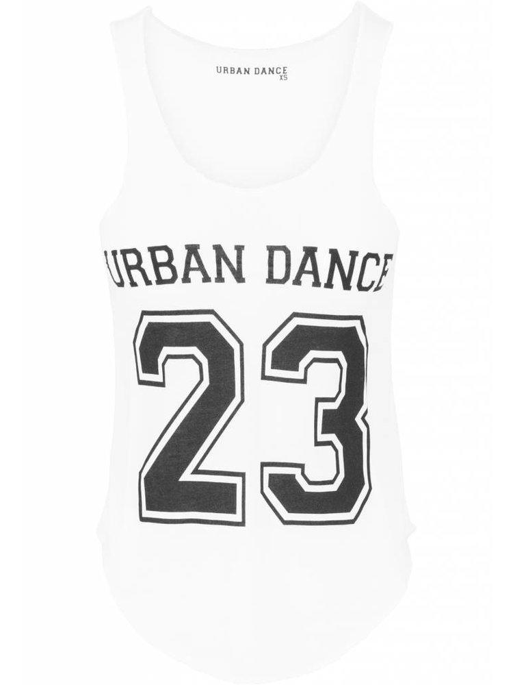 Urban Dance Dans tanktop wit cijfer 23