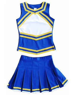 Cheerleader Uniform (rood/wit/blauw)