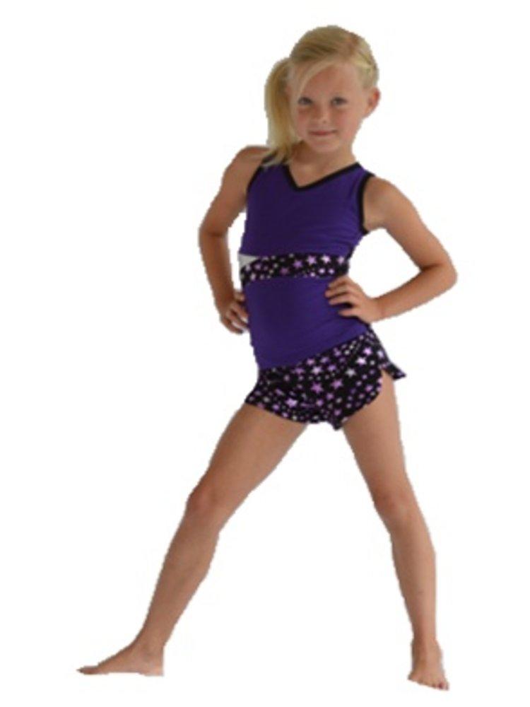 Pizzazz Superstar cheer short paars