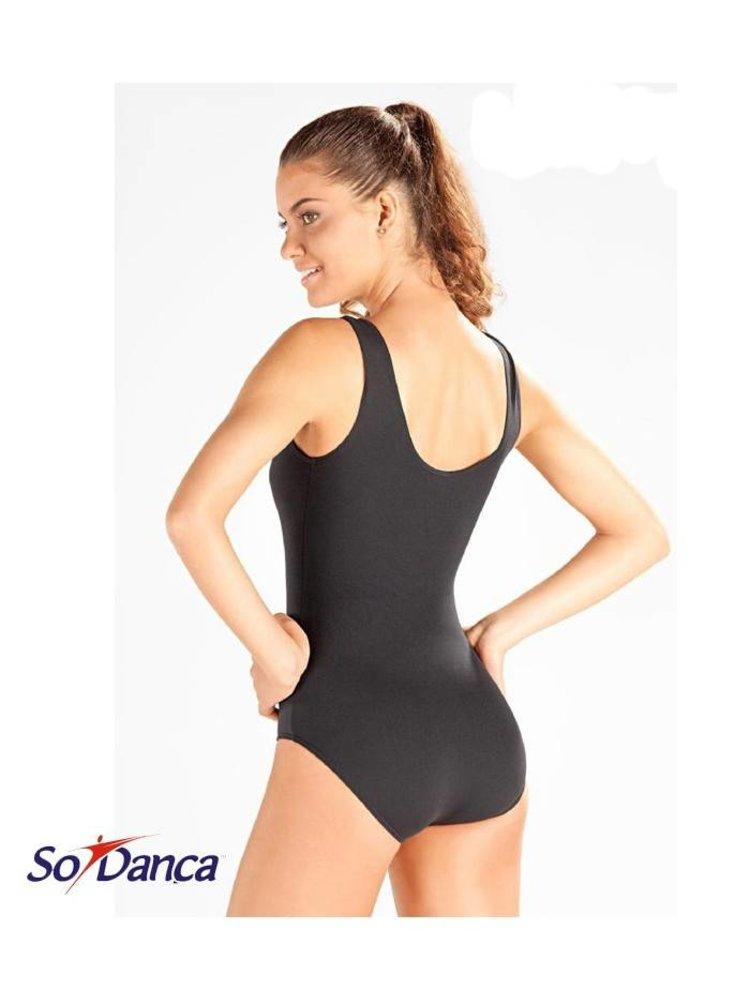 So Danca Balletpakje hemdmodel zwart