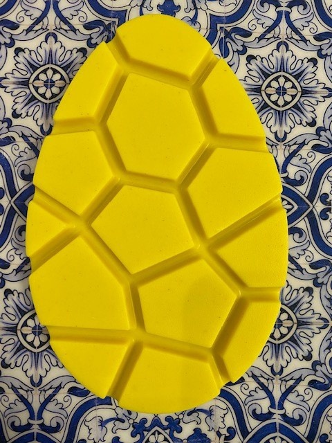 Flat egg curcuma +/- 95 gr