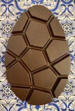 Plat ei pure chocolade +/- 95 gr