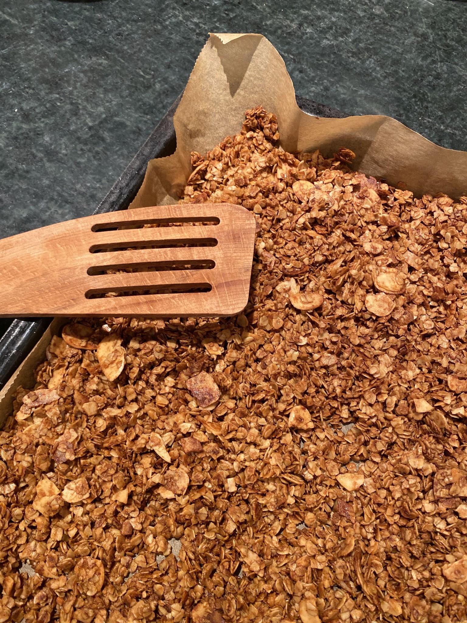 Granola selbstgemacht mit Maca