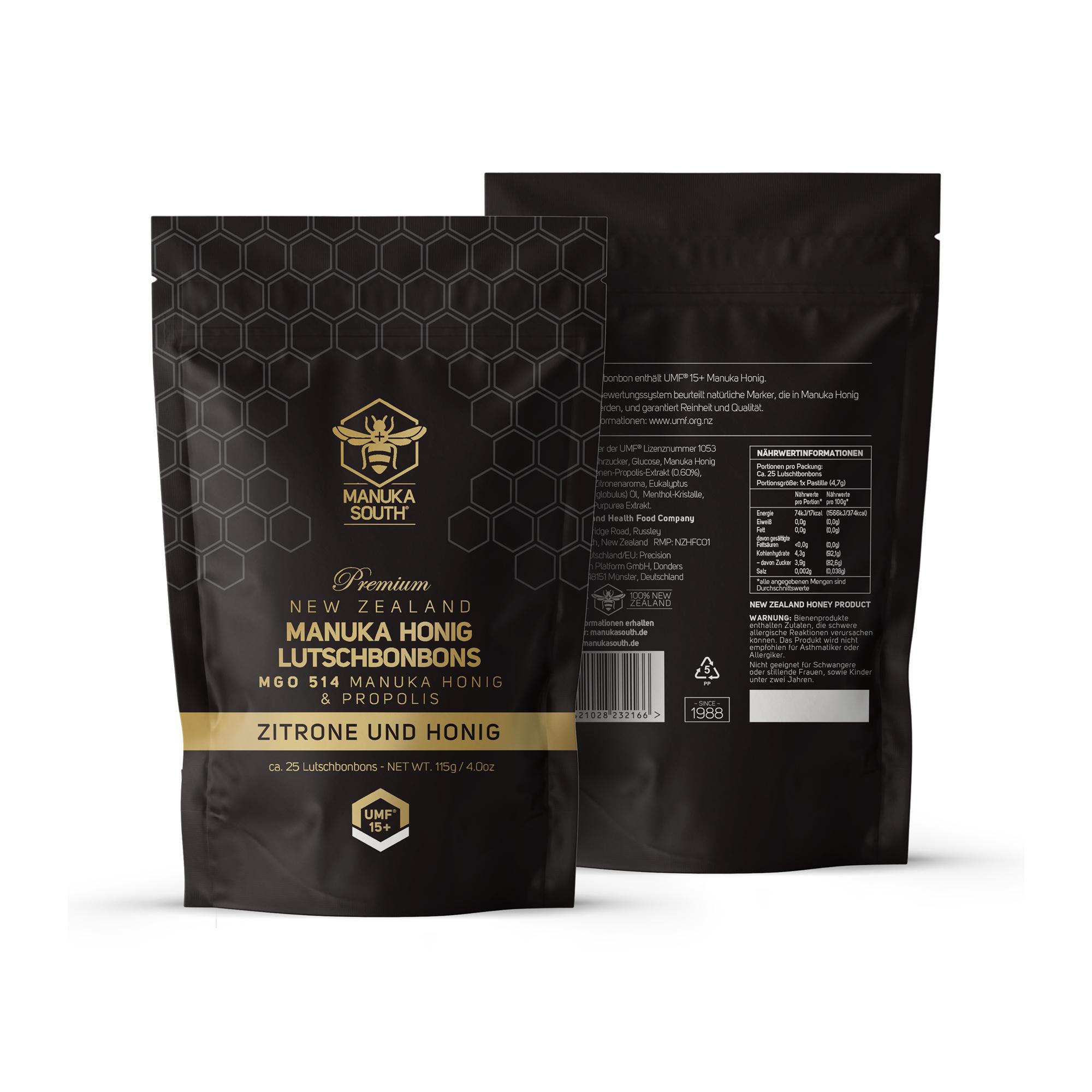 Manuka South® MANUKA Lezonges MGO 514 / UMF 15+ Lemon Honey