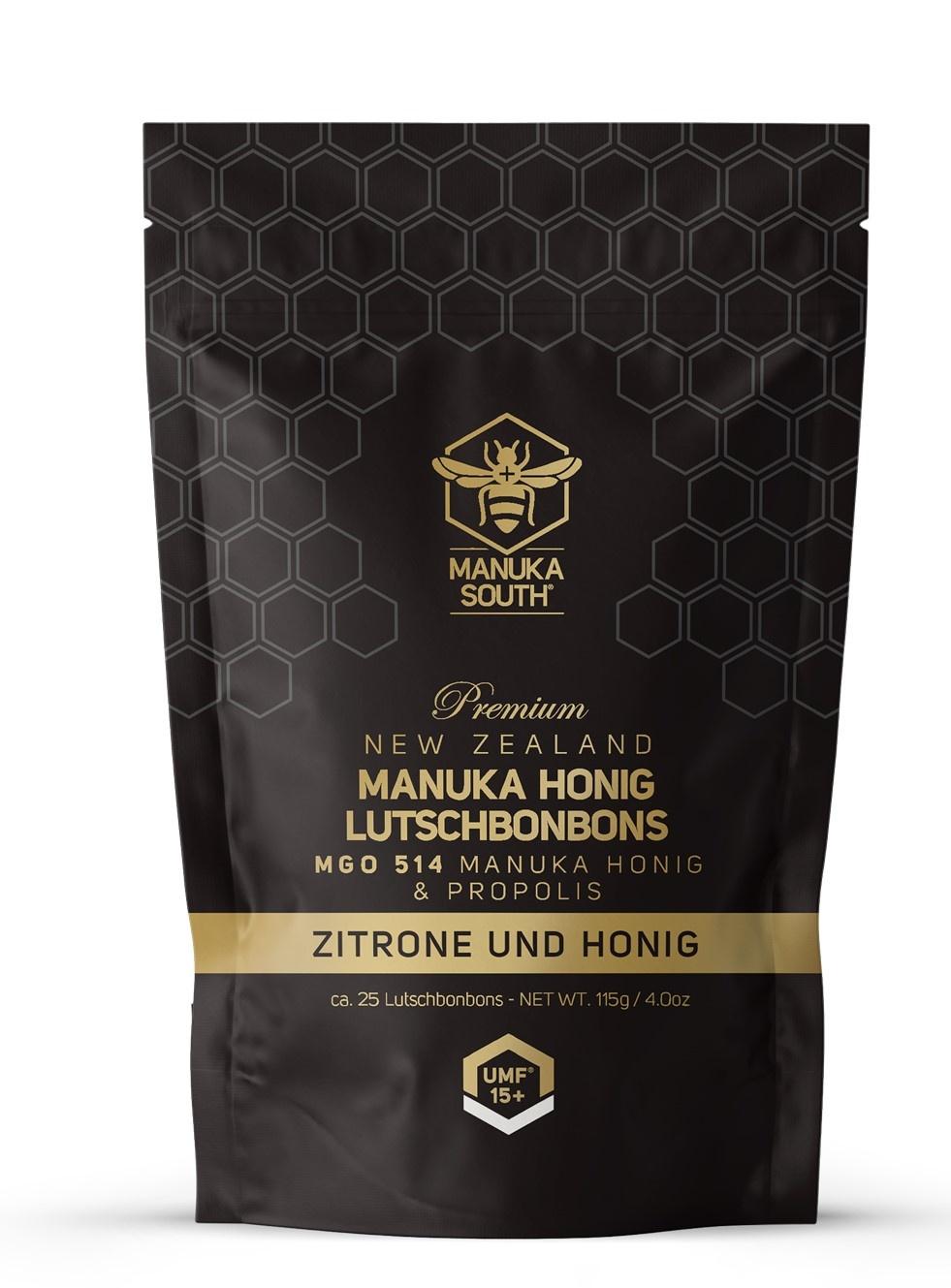 MANUKA South®  Manuka Lozenges MGO 514 / UMF 15+ Lemon Honey