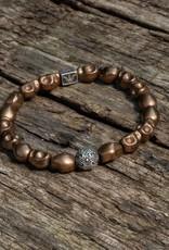 "Armband ""Skulls"" - Hämatit Kupfer/ 935er Sterling Silber"