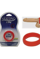 100% Siliconen Cock Ring Red