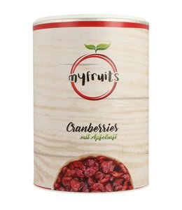myfruits Cranberries mit Apfelsaft