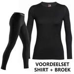 Icebreaker Merino Bodyfit 260 dames merino wol voordeelset bestaande uit een thermobroek en thermoshirt