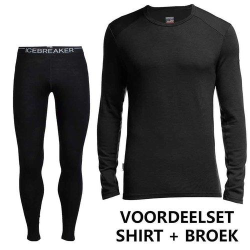 Icebreaker Merino Bodyfit 260 heren merino wol voordeelset - thermobroek + thermoshirt