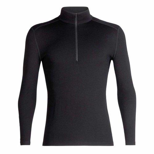 Icebreaker Merino Bodyfit 260 Tech Top heren thermoshirt van merino wol met rits