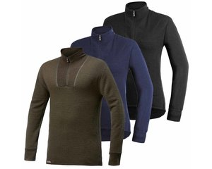 Woolpower Woolpower 400 thermoshirt met rits heren