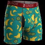 2UNDR Swing Shift heren boxershort met bananen en kiwi print