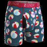 2UNDR Swing Shift heren boxershort met strandballen print