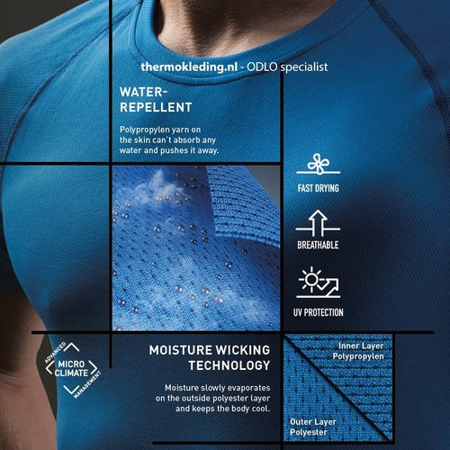 Odlo Active F-Dry Light heren thermoshirt