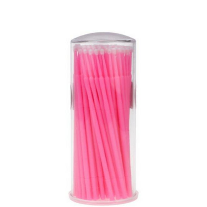 Pink micro eyelash brushes (100stuks)