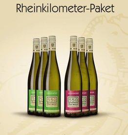 Weinpaket Rheinkilometer 6 Flaschen -versandkostenfrei-