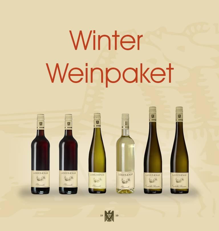 Winter-Weinpaket Spätburgunder Rotwein trocken, Weißburgunder trocken, Rheingold feinherb, Engehöller Bernstein feinherb und fruchtig