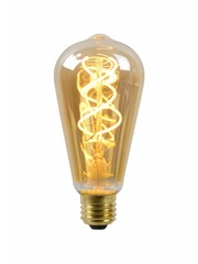 Lucide Filament Led lamp Amber  Glas