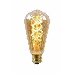 Lucide Filament Led lamp Amber Glass