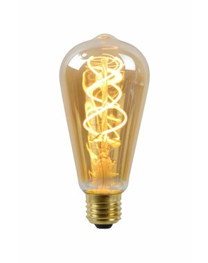 Lucide Filament Led lamp Amber Glass
