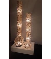 Villaflor Coin Gold floor lamp