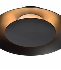 Lucide Ceiling lamp Foskal Black Led
