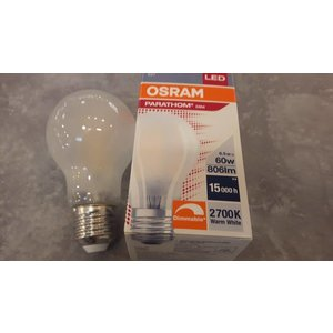 Osram Led lamp 6,5  watt/E27 dimbaar