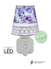 Sweet Lake Compagny Stopcontact Night Light  Purple Roses