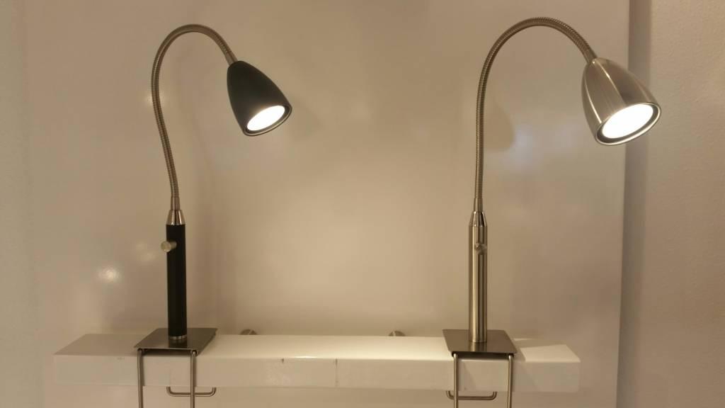 Klem bedlamp malmö met led voor op de achterrand van het bed light
