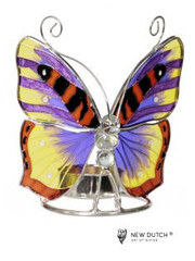 Sweet Lake Compagny Tiffany Tealightholder Butterfly  paars