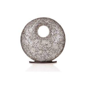 Villaflor Table lamp Glass White Donut