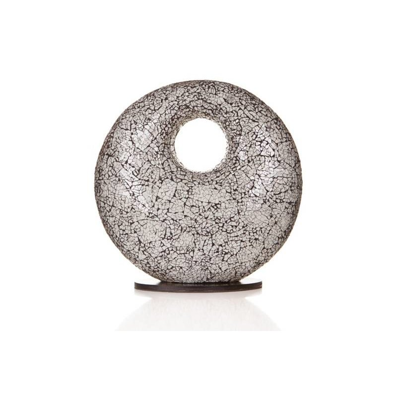 Villaflor Table lamp Glass White Donut