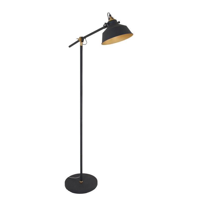 Steinhauer Vloerlamp Mexlite zwart