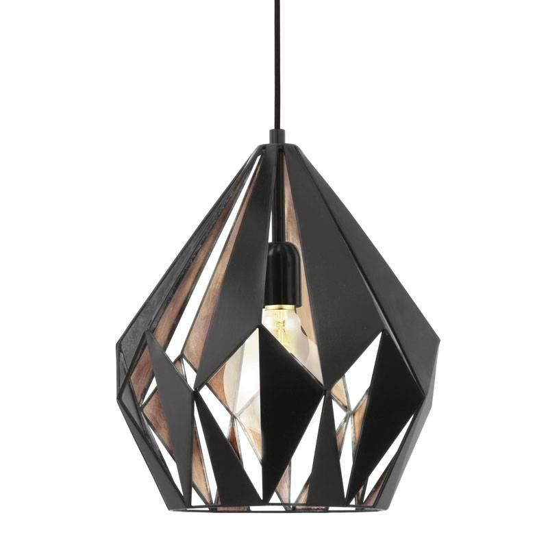 Eglo Hanglamp Carlton 1 Zwart-Koper 31 cm