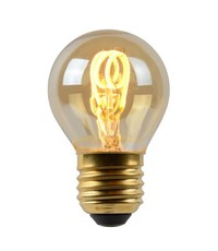Lucide Led filament kogellamp Amber E27
