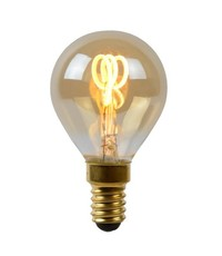Lucide Led filament kogellamp Amber E14