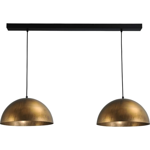 Master Light Hanglamp Larino Antique Brass   2 lichts