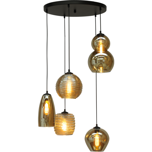 Master Light Hanglamp Quinto  Rond 5 lichts