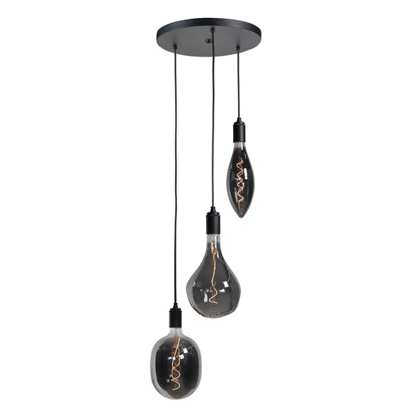 HighLight lampen  Hanging lamp round with 3 LED lamps