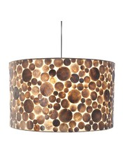 Villaflor Hanging lamp Coin Gold Cylinder 55 cm